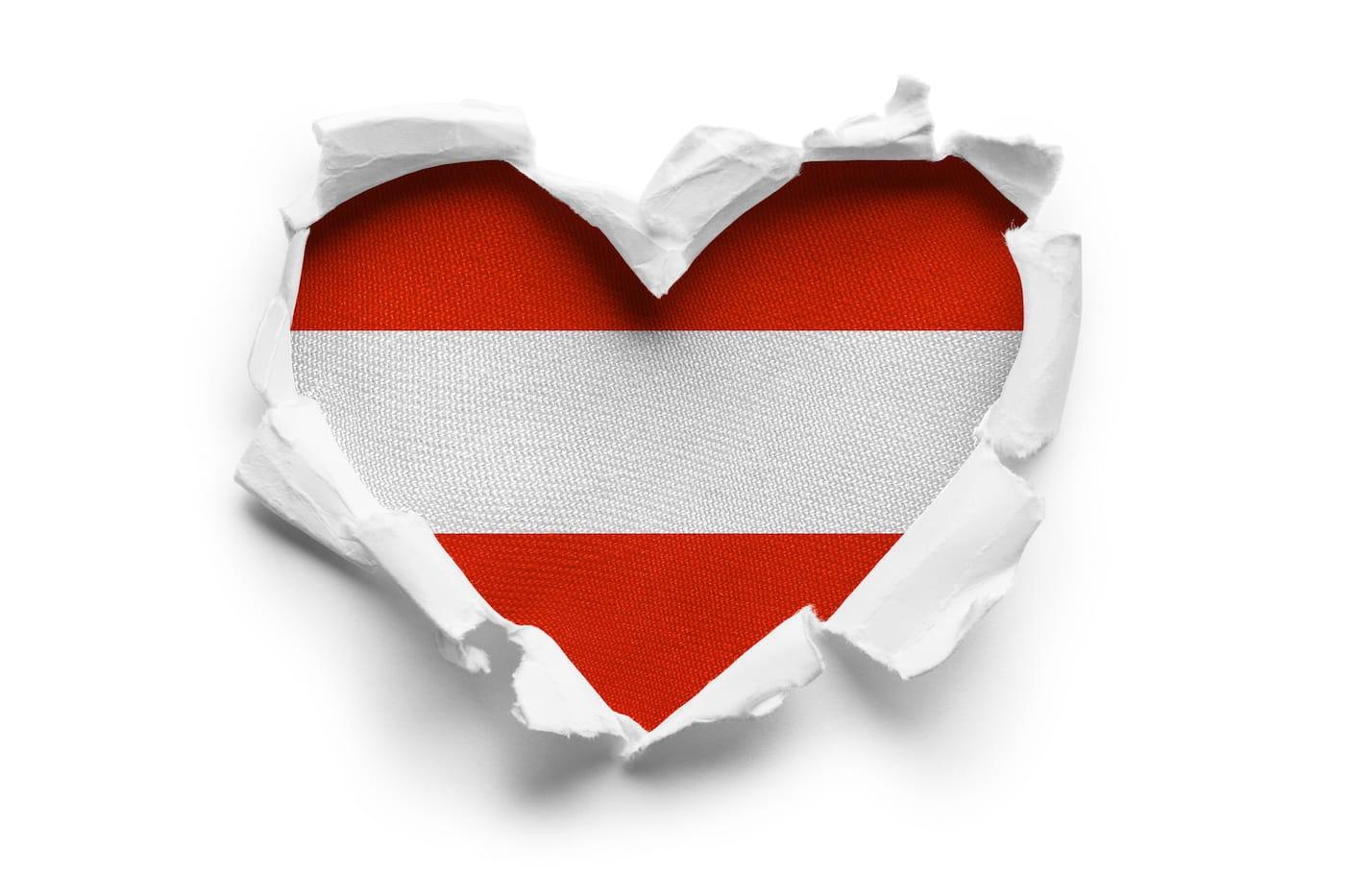 Herz aus Schweizer Flage