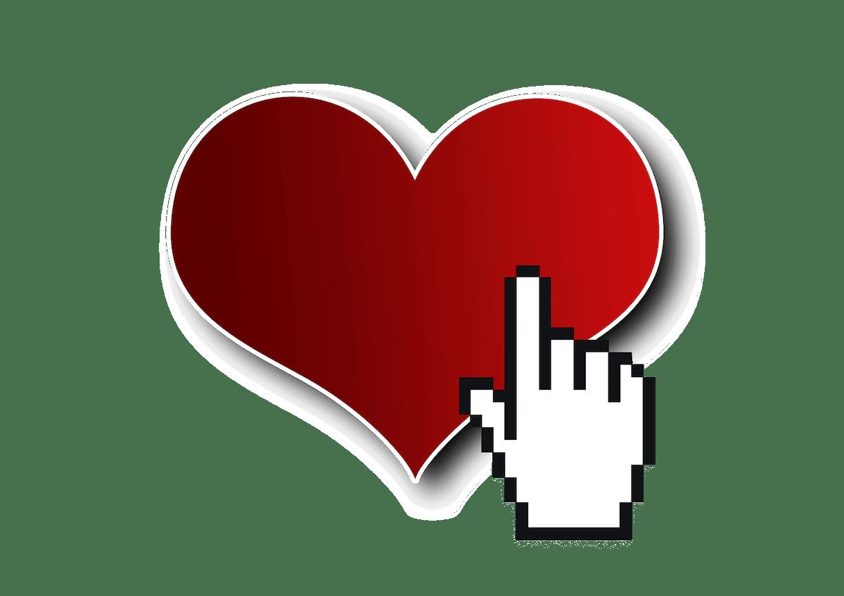 Herzen auf Klick
